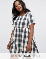 Alice & You Gingham Check Smock Dress