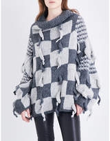 Loewe Check-patterned chunky-knitted wool and alpaca-blend jumper