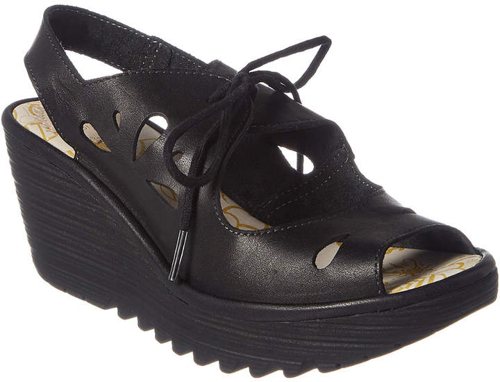 Fly London Yend Leather Wedge