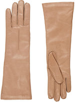 Barneys New York Women's Whipstitched Nappa Leather Gloves-Tan