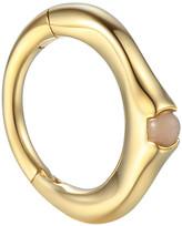 Pamela Love 6MM Floating Pink Opal Single Huggie Hoop Earring - Yellow Gold