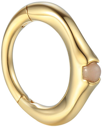 Pamela Love 6MM Floating Pink Opal Single Huggie Hoop Earring - Yellow Gold