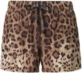 Dolce & Gabbana leopard-print swim shorts