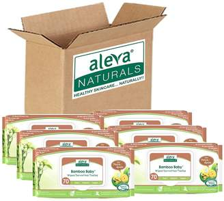 Aleva Naturals Baby's 6-Pack Bamboo Ultra Thick Wipes