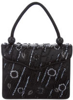 Judith Leiber Bead-Embellished Satin Handle Bag