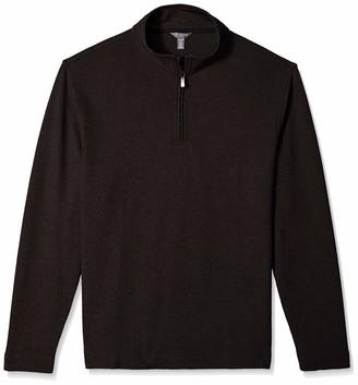 Van Heusen Men's Flex Long Sleeve 1/4 Zip Ottoman Solid Shirt