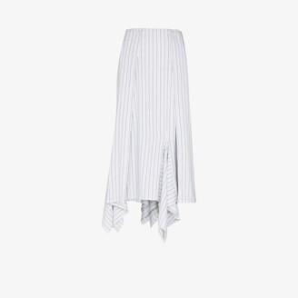MM6 MAISON MARGIELA Transformative striped asymmetric midi skirt