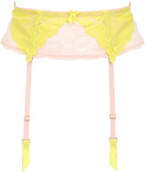 Mimi Holliday Two Tone Nylon Lace Wide Suspender