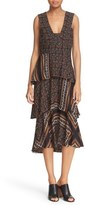 A.L.C. 'Hayley' Tiered Print Silk Dress