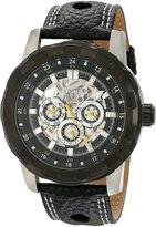 Akribos XXIV Men's AK557BK Premier Automatic Multi-Function Leather Strap Watch