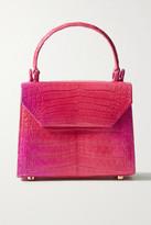 Nancy Gonzalez Lily Mini Degrade Crocodile Tote - Pink