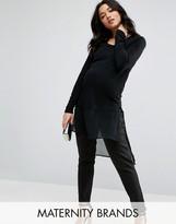 Mama Licious Mama.licious Mamalicious Long Sleeve Jersey Tunic