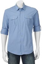 Apt. 9 Men's Modern-Fit Solid Roll-Tab Casual Button-Down Shirt