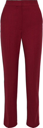 Roksanda Colwyn Silk Satin-trimmed Twill Slim-leg Pants