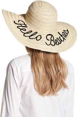 Melrose and Market Embroidered Wide Floppy Hat