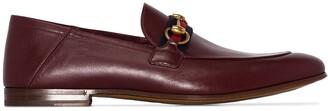 Gucci Brixton Web stripe loafers