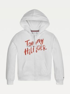 Tommy Hilfiger Pure Cotton Double Logo Hoody