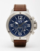 Armani Exchange Watch With Leather Strap Ax1505