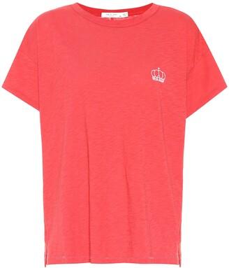 Rag & Bone Embroidered cotton T-shirt
