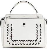 Fendi Dotcom Medium Whipstitch Satchel Bag, White