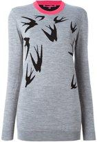 McQ swallow intarsia jumper