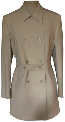 Calvin Klein Ecru Wool Jackets