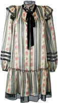 Marc Jacobs brocade floral gauze dress