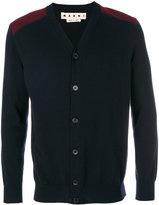Marni shoulder panel buttoned cardigan - men - Wool - 46