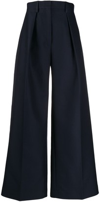 Jacquemus pleated details palazzo trousers