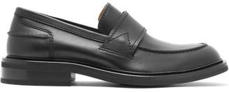 Bottega Veneta Leather Loafers - Mens - Black