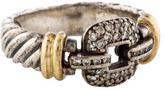 David Yurman Two Tone Diamond Ring