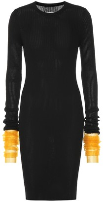 Maison Margiela Ribbed cotton-blend dress