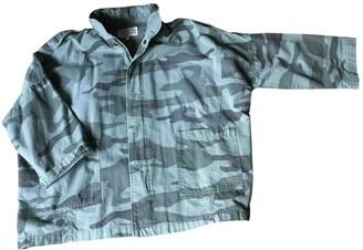 Current/Elliott Current Elliott Khaki Cotton Leather Jacket for Women