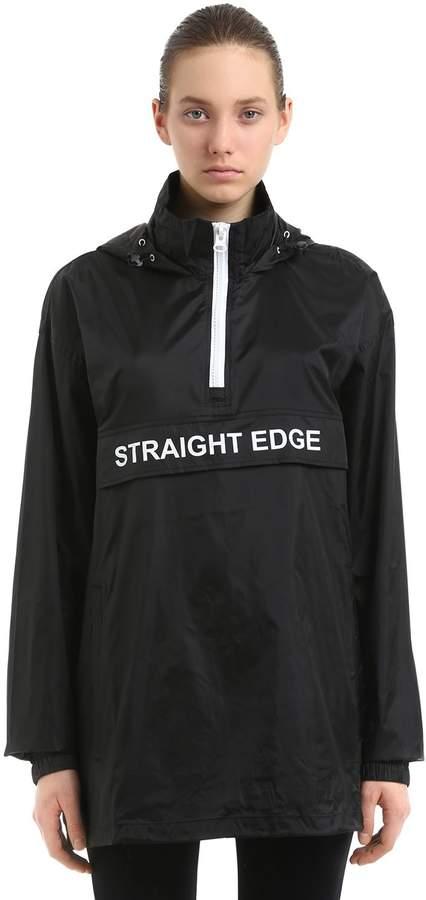 Andrea Crews Straight Edge Hooded Windbreaker
