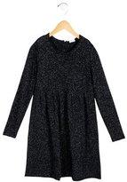 Il Gufo Girls' Metallic-Accented Sweater Dress