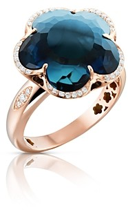 Pasquale Bruni 18K Rose Gold Bon Ton London Blue Topaz & Diamond Ring