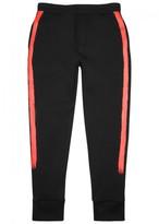 Neil Barrett Black Striped Neoprene Jogging Trousers