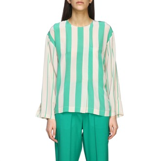 Alysi Crew Neck Shirt With Striped Bands