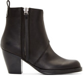 Acne Studios Black Matte Leather Pistol Boots