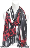 Zadig & Voltaire Nuage Leopard scarf 80x200
