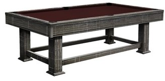 Taos Slate 8' Pool Table With Professional Installation Included Olhausen Felt Color: Wine