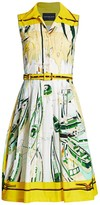 Samantha Sung Claire Sleeveless Printed Fit-&-Flare Dress
