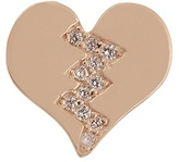 Alison Lou Diamond & yellow-gold Broken Heart earring