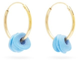 Completedworks - The Remains Of A Dream 18kt Gold-vermeil Earrings - Womens - Blue