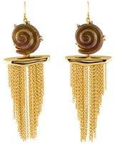 Alexis Bittar Lucite Shell Tassel Earrings