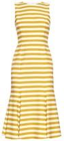 Dolce & Gabbana Striped fishtail cotton dress