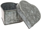 Stonebriar Collection Stonebriar Galvanized Heart Trinket Container Table Decor
