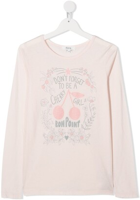 Bonpoint TEEN cherry print T-shirt