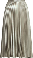 Thumbnail for your product : Ralph Lauren Pleated Metallic Lame Skirt