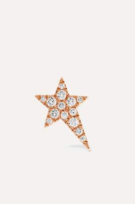 Diane Kordas Star 18-karat Rose Gold Diamond Earring - one size